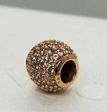Authentic Rose Gold PANDORA Pave Lights CZ Charm 781051CZ ALE R