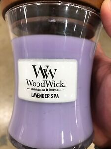 Woodwick Medium 12cm Soy Wax Candle - Lavender Spa **FREE DELIVERY**