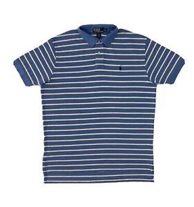 Polo Ralph Lauren Blue Stripe Button Shirt XL Short Sleeve Mens