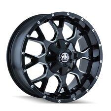 """20"""" Mayhem Warrior 8015 Black Milled Wheel 20x9 5x150 5x5.5 18mm Toyota 5 Lug"""