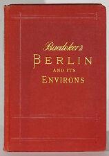 Baedeker's Berlin et Environs 1910 4th Edition avec Street Index