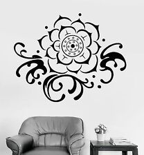 Wall Sticker Lotus Floral Flower Buddha Relaxation Vinyl Decal (z2947)
