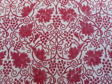 "William MORRIS tessuto per tende ""Grapevine"" 3 metri (300 cm) ROSE misto lino"