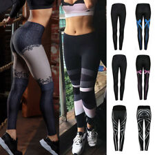 Women Trousers Running Gym Sports Pants Casual High Waist Yoga Fitness Leggings