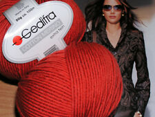 600g 12 Knl wolle Cotton Merino Gedifra Schachenmayr Baby NATUR  Koralle Tomate