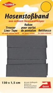 (2,69€/m) Kleiber Hosenstoßband  ca 130 cm x 1,5 cm 100% BW  dunkelgrau 35101