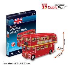 Double Decker Bus 3D Puzzle Child Boys Girls Model Paper DIY Educational Toys