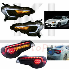 For 13-17 Toyota GT-86 Subaru BRZ Scion FRS LED Projector Headlights Tail Lights
