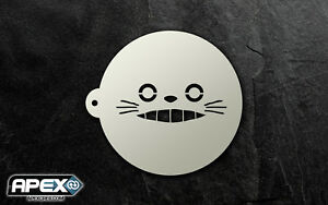 Grinning Totoro Smile Inspired Coffee Duster Anime Kawaii Cakes Baking