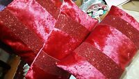 glitter cushions set of 3