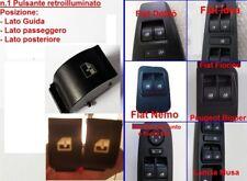 2X TASTO PULSANTE ALZAVETRO FIAT LANCIA PULSANTIERA INTERRUTTORE RETROILLUMINATO