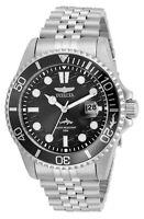Invicta 43MM Men's Watch Pro Diver Black Dial Stainless Steel Bracelet 30609
