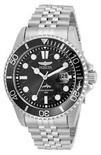 Invicta 43MM Men's Watch Pro Diver Black Dial Stainless Steel Bracelet 30609