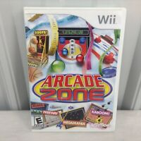 Tested Arcade Zone (Nintendo Wii, 2009) Complete With Manual