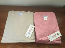 Nwt Size Medium Rickees 2 Scrub Sets Bundle Pink And Beige