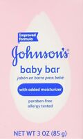 Johnson's Baby Soap Bar With Added Moisturizer, 3 oz (PACK OF 2)