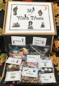 Adult Witch Theme Treat Box Gift full of Novelty Sweets & Chocolate Birthday