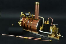 Twin Miniature Live Gas Burner Steam Engine + Boiler + Tank  Live Steam