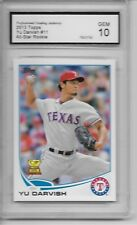 2013 Topps # 11 Yu Darvish Rookie Card Chicago Cubs Graded PGA 10 Gem Mint