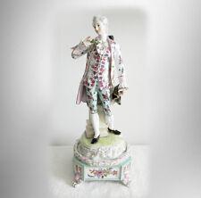 Meissen LARGE figurine of victorian gentleman in period dress - FREE SHIPPING