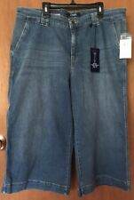 ~NWT~Woman's CHAPS Cropped Trouser Denim Capri's 16P SUPER STRETCH