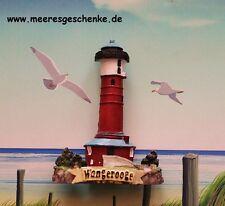 Deko-Magnet Leuchtturm Hiddensee aus Polystone ca 4 x 6 cm