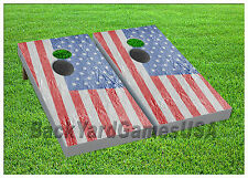 VINYL WRAPS Cornhole Boards DECALS USA Flag Hochey Bag Toss Game Stickers 288