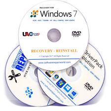 Récupération Bundle for Windows 7 toutes les versions restaurer réinstaller PC portable DVD Disque