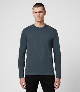 AllSaints Brace Long Sleeve Tonic Crew T-Shirt Navy size M