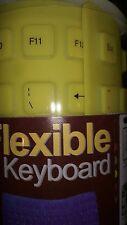 Portable USB 2.0 Mini Flexible Silicone Foldable Keyboard - Yellow