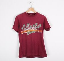 Vintage 80s Hawaii Volcano Palm Trees T-Shirt M / L Splatter Sun Fade Distressed