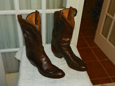 Tony Lama Brown Leather Cowboy Western Boots 5084 Men's 11.5 D made in USA