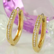 Creolen Ohrringe in 750 Gelbgold 18 K mit 26 Diamanten 0,54 ct TopWesselton vsi