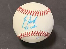 Lee Smith Cubs 84 Autographed Signed Official League Baseball IMPERFECT b