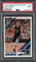 2019 Panini Donruss Optic #16 LUKA DONCIC Fanatics PSA 9 MINT