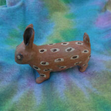 Old Tribal Clay Pottery Sculpture In The Form Of A Rabbit