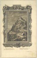 METEOROLOGIE Original Kupferstich um 1730 Klimaforschung Wetter Prophet KLIMA