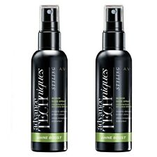 2 x Avon Advance Techniques Daily Shine Mirror Shine Hair Spray 100ml