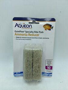 Aqueon Quiet Flow 10 Ammonia Reducing Specialty Filter Pad 4 Count New Sealed