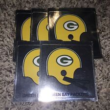 Vintage GREEN BAY PACKERS Foil Stickers Lot 2 Bar Helmet