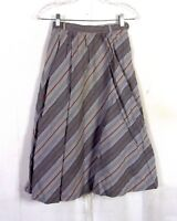 vtg 70s Summit Sportwear Gray/Beige Diagonal Stripe A-Line Skirt cotton 22 waist