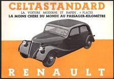Catalogue. Automobile. Renault Celtastandard. Vers 1936