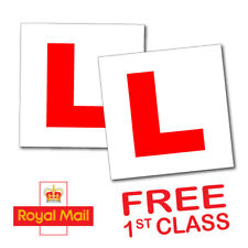 2 PIECE L PLATE CAR LEARNER SIGN STICKERS VEHICLE STICKER (EXPRESS DELIVERY)