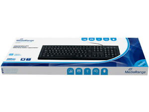 Mediarange USB mechanische PC Tastatur kabelgebunden, QWERTZ, Nummernblock