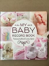 HINKLER BABY RECORD BOOK FEATURING TRADITIONAL NURSERY RHYMES PINK
