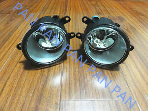 Pair Fog Lamps Lights W/ Bulb For 2007-2014 TOYOTA CAMRY 2013 2012 2011 2010