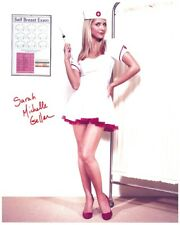 Sarah Michelle Gellar signed Hot Legs 8x10 w/ coa Very Sexy In Nurse'S Uniform
