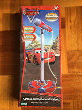 Disney Pixar Cars Karaoke Microphone With Stand in-Line Speaker Connection Toy