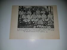 St. Francis College Loretta Pennsylvania 1911 Baseball Team Picture