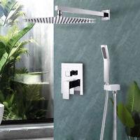 8 inch Bathroom Shower System Chrome Bath Rain Mixer Shower Combo Set with Valve